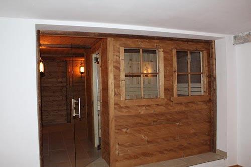Sauna aus Altholz